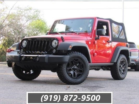 Used Jeep Wrangler For Sale Nc >> 2017 Jeep Wrangler Willys Wheeler 4x4